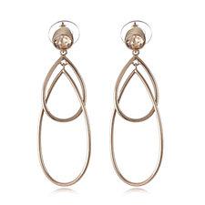 Aurora Swarovski Crystal Linear Pear Drop Earrings
