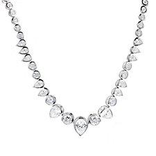 Michelle Mone for Diamonique 17ct tw Statement 42cm Necklace Sterling Silver