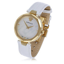 Versace Idyia Butterfly Buckle Leather Strap Watch