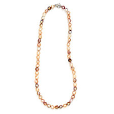320398 - Honora 10-12mm Cultured Ming Pearl 75cm Necklace Sterling Silver