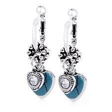 Bibi Bijoux Heart Interchangeable Leverback Hoop Earrings