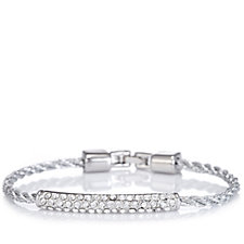 loveRocks Pave Crystal Corded Bar Bracelet