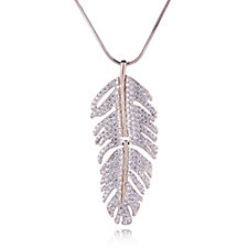 305799 - Frank Usher Articulated Crystal Feather 81cm Necklace