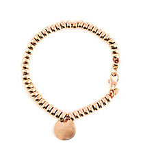 Bronzo Italia Roundels 19cm Charm Bracelet