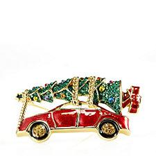 Butler & Wilson Christmas Tree Car Brooch