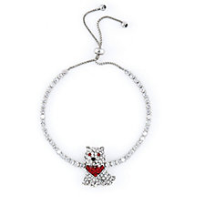 Butler & Wilson Crystal Dog Bracelet