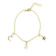 Lisa Snowdon Diamond Cosmic Charm Bracelet Sterling Silver