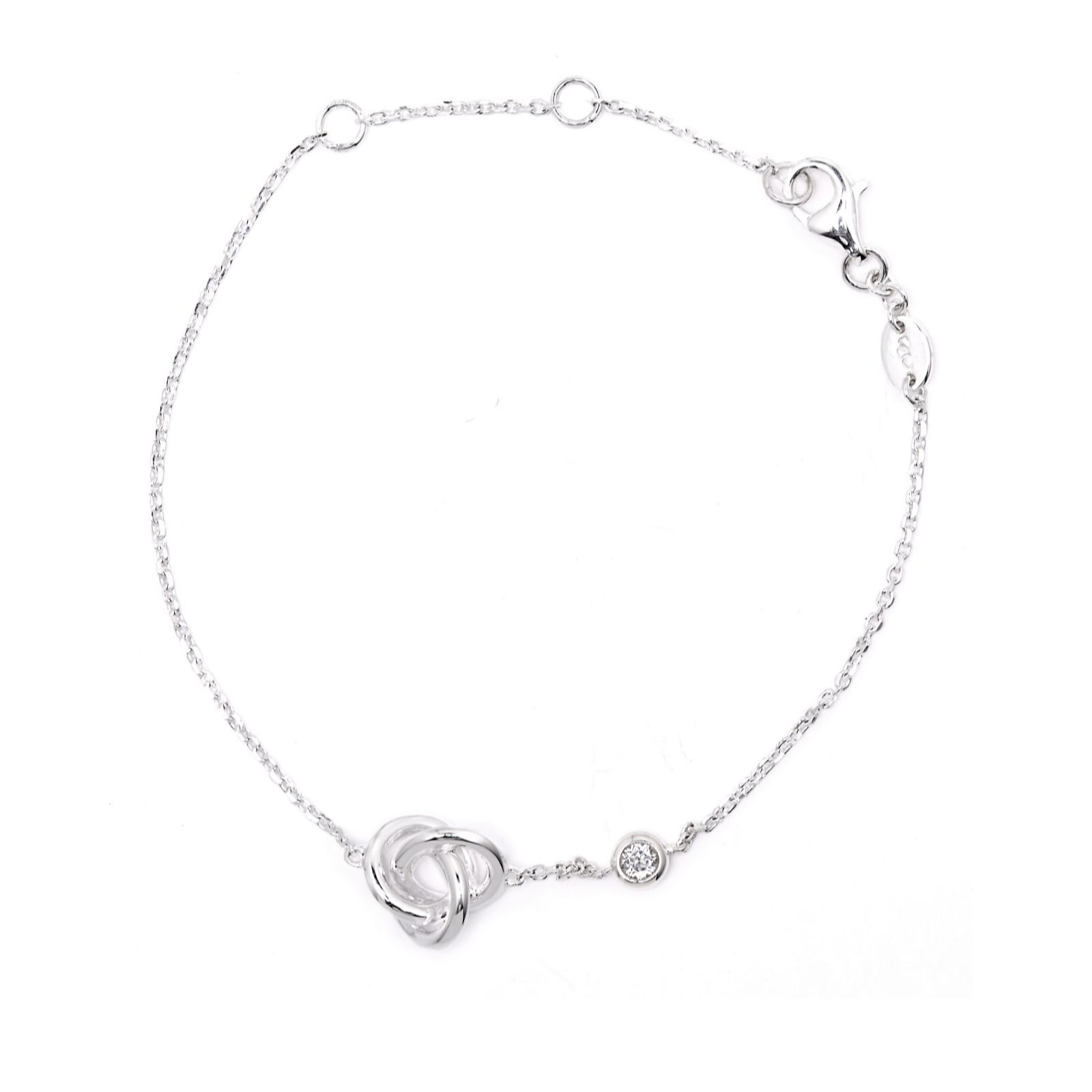 LINKS OF LONDON Sterling Silver & Topaz Love Knot Necklace
