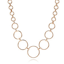 Bronzo Italia Graduated Circle Link 45cm Necklace