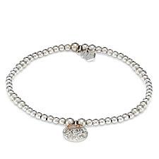 Clogau 9ct Rose Gold Sterling Silver Am Byth Bracelet