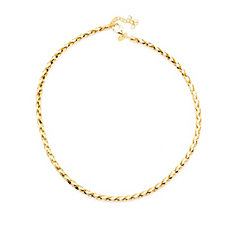 Bronzo Italia Woven Mesh 41-45cm Collar Necklace