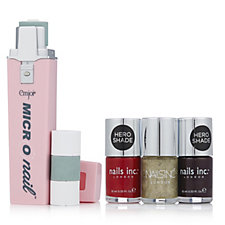 Emjoi Micro Nail Nail Buffer with 3 Nails Inc Varnishes