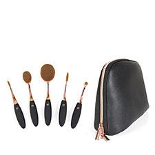 Rio 5 Piece Professional Microfibre Cosmetic Brush Collection & Bag