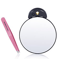 Tweezerman 10x Lighted Mirror & Slanted Tweezer