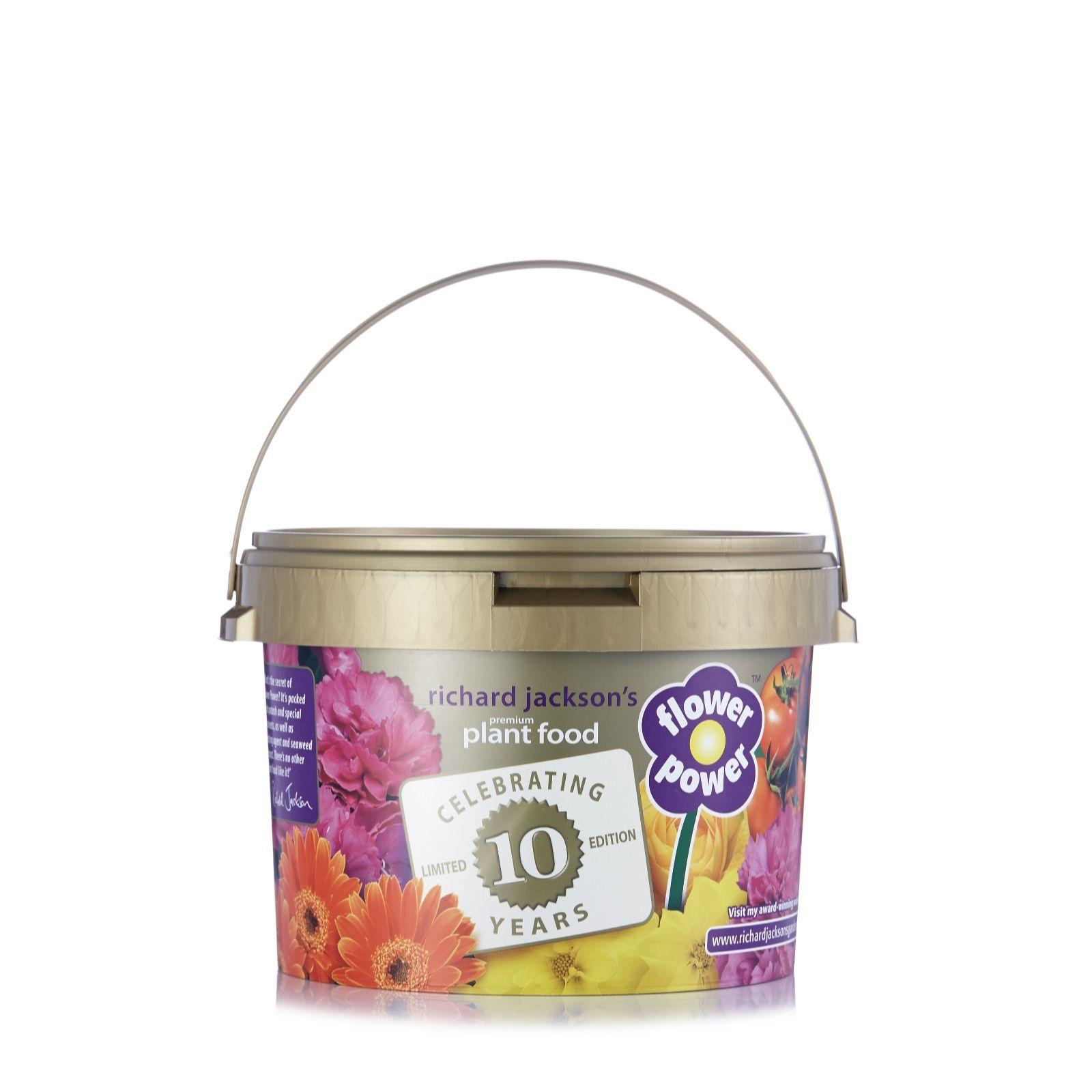 Richard Jacksonu0027s Flower Power 10th Anniversary 2.4kg Premium Plant Food    509000