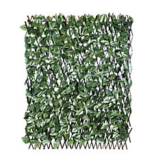 509100 - Compass Home Garden Expandable Faux Ivy Trellis with Stakes & Ties