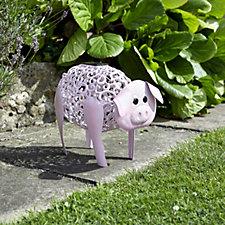 Smart Garden Silhouette Solar LED Pig