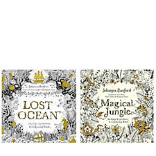 Johanna Basford Lost Ocean & Magical Jungle Colouring Books