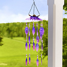 Plow & Hearth Glass Wind Chime