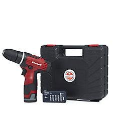 Einhell 12v Cordless Drill Screwdriver w/ 9 Piece Drill Bit Set & Case