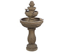Bernini Volterra 4 Tier Rechargeable Fountain with Lights & Remote - 507505