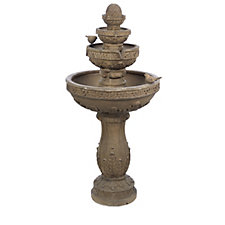 Bernini Volterra 4 Tier Rechargeable Fountain with Lights & Remote