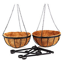 Smart Garden Pack of 2 Saxon Baskets with Liners & Brackets