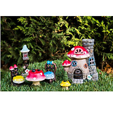 Fairy Dust Set of 6 Miniature Fairy House Garden Set