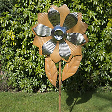 513708 - Home 2 Garden Stainless Steel & Rust-Look Flower Decoration