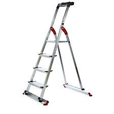 Hailo 4 Tread Garden Ladder with Detachable Base Rails