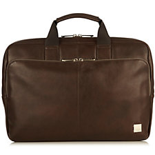 Knomo Newbury Men's Leather Briefcase For Laptops Up To 15