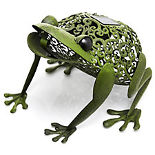 Smart Solar Dual Function LED Metal Silhouette Frog