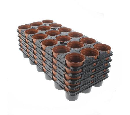 5 trays of 18 plastic plant pots 8cm. Black Bedroom Furniture Sets. Home Design Ideas