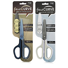 Set of 2 Plus Fit Cut Curve Scissors