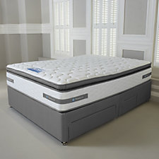 Sealy Advantage 2200 Pocket Spring Pillow Top Mattress w/ Divan Bed & Drawers