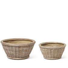 513518 - Garden Reflections Set of 2 Basket Planters