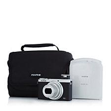 Fujifilm XQ2 12MP Digital Camera w/ Instax Printer & Case Bundle