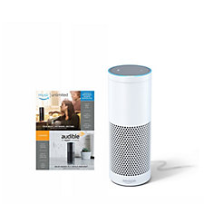 Amazon Echo Voice Controlled HD Speaker with Amazon Music & Audible Voucher