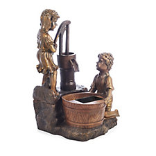 Smart Garden Metal Effect Water Pump Water Fountain
