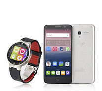 "Alcatel POP3 5"" 4G SIM Free Android Smartphone & Smart Watch Bundle - 507226"