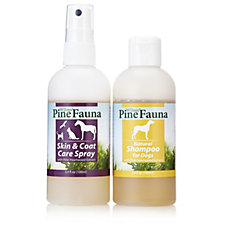 PineFauna 100ml Skin & Coat Care Spray & 100ml Dog Shampoo