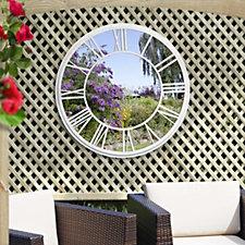 Sun Time Outdoor Garden Mirror & Clock