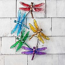 Plow & Hearth Set of 5 Indoor/Outdoor Glass Wall Art