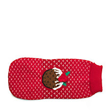 House of Paws Christmas Pudding Dog Jumper