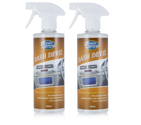 greased lightning 500ml dash devil dashboard interior cleaner twin pack. Black Bedroom Furniture Sets. Home Design Ideas