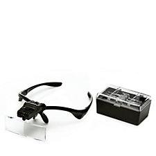 Adjustable 5 Lens Magnifier Set with LED Light