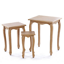 Alison Cork Troussay French Style Set of 3 Nesting Tables