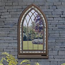 Sun Time Outdoor LED Church Style Mirror
