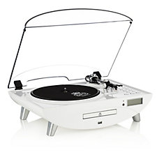 GPO Jive Turntable with Radio, CD & MP3 Player