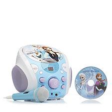 506837 - Disney Frozen Portable Karaoke Machine with Sound Effects & Microphone